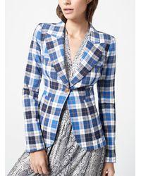 Smythe Duchess Patch Pocket Check Blazer - Blue