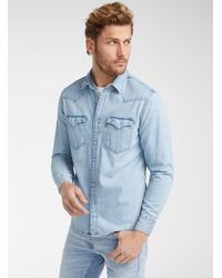 Levi's Western Denim Shirt Modern Fit - Blue