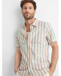 Scotch & Soda Sorbet Stripe Shirt - Pink