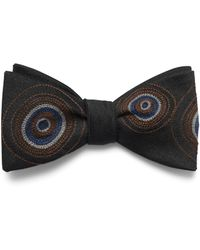 Title Of Work Embroidered Groove Bow Tie - Black