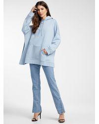 Icône Oversized Organic Cotton Hoodie - Blue