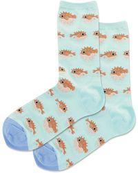 Hot Sox Puffer Fish Socks - Blue