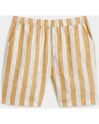 Native Youth Hatched Stripe Short - White