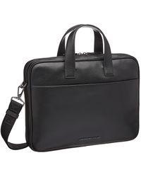 Emporio Armani Signature Briefcase - Black
