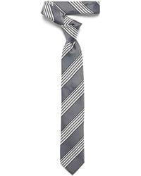 Ben Sherman Block Stripe Tie - White
