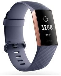 Fitbit - Charge 3 Rose Gold/blue Grey - Lyst