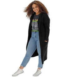Simply Be Super Soft Hooded Cardigan - Black