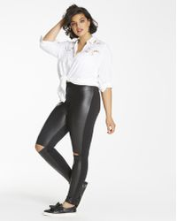 9c6d56a039cd3 Simply Be - Pu Wet Look Front Stretch Leggings Regular - Lyst