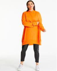 Simply Be - Ax Paris Neon Orange Plain Sweater Dress - Lyst