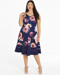 Simply Be - Joanna Hope Print Scuba Dress - Lyst