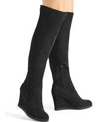 9c3eba9515cdcd Lyst - Sam Edelman Karen Leopard-print Calf Hair Ankle Boots in Brown