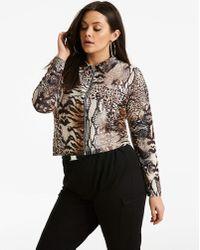 Moda In Pelle - Pink Clove Animal Print Jacket - Lyst