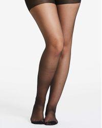c3c8c4637 Pretty Polly Curves Plus Bow Back Seam Tights in Black - Lyst