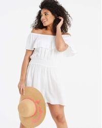Simply Yours - Bardot Frill Playsuit - Lyst