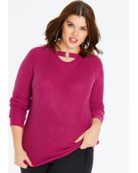 Simply Be - O-ring Sweater - Lyst