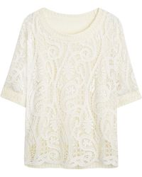 Simply Be - Lace Front Top - Lyst