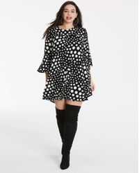 AX Paris - Curve Spot Print Dress - Lyst