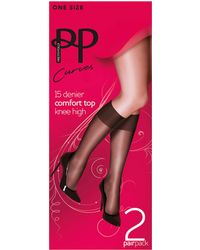 Pretty Polly - Curves 2pk Knee Highs - Lyst