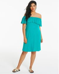 Simply Be - Frill Off-the-shoulder Dress - Lyst