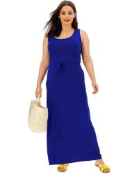567df01d2bb Lyst - Lark   Ro Tiered Top Maxi Dress in Blue - Save 17%