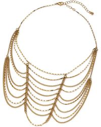 Simply Be - Gold Ladder Choker - Lyst