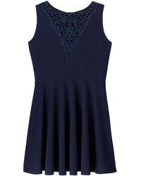 AX Paris - Crochet Insert Skater Dress - Lyst