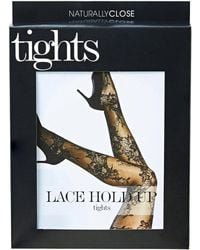 Simply Be - Naturally Close Lace Hold Up Tights - Lyst