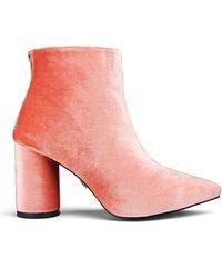 Daisy Street - Velvet Ankle Boots - Lyst
