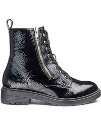 4e54c15eb42 Lyst - Jeffrey Campbell Crockett Zipper Trim Booties in Black