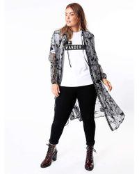 Huit - Koko Sheer Shirt Dress - Lyst