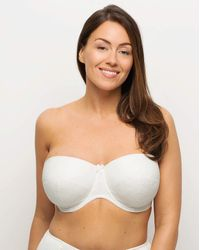 Charnos Superfit Lace Strapless Bra - White