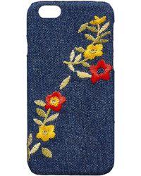 Calvin Klein - Embroidered Denim Iphone 6 Case - Lyst