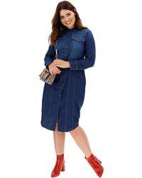af6360b1f23e Simply Be - Western Style Denim Shirt Dress - Lyst