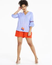 Simply Be - Crinkle Shirred Waist Shorts - Lyst