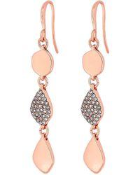 Claudia Canova Jon Richard Polished Crystal Drops - Pink