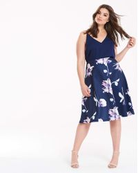 AX Paris - Printed Prom Dress - Lyst
