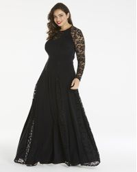 Simply Be - By Night Lace Insert Maxi - Lyst