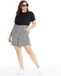 Glamorous Curve Polka Dot Short - Black