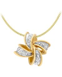 Simply Be - 9ct Gold Diamond Cross Necklace - Lyst