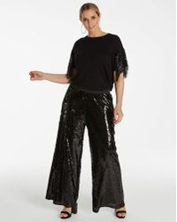 Simply Be - Sequin Palazzo Trousers - Lyst