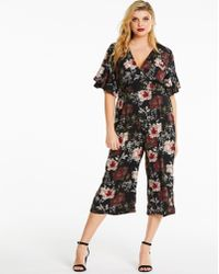 56e0f91b2f2d Simply Be - Ax Paris Curve Print Jumpsuit - Lyst