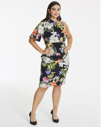 Simply Be - Ruched Side Dress - Lyst