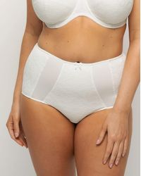 Charnos Superfit Lace Deep Brief - White