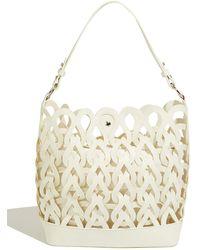 Oasis Lasercut Tote Bag - White