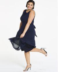 f90d76263133 Lyst - Simply Be Joanna Hope Jewel Trim Velour Swing Dress in Black
