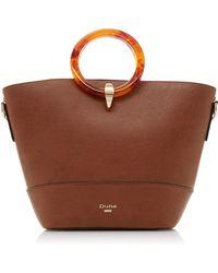 9f62f55fd7f7 Dune Tan 'diella' Triple Compartment Unlined Shopper Bag in Brown - Lyst
