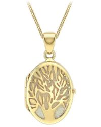 Simply Be - 9ct Gold Tree Of Life Necklace - Lyst