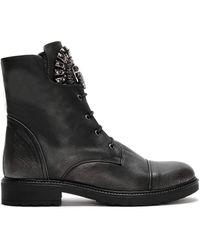 Daniel Footwear Daniel Encrust Embellished Ankle Boots - Black