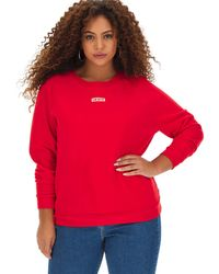 Levi's Relaxed Graphic Crew Neck Jumper - Red