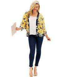53e7a27bef4e Simply Be - Oasis Curve Scarf Print Kimono Jacket - Lyst